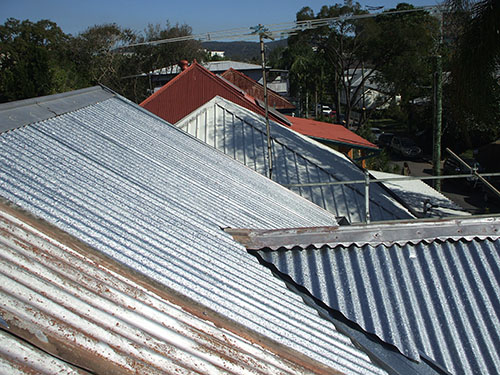 Metal and tile roofs