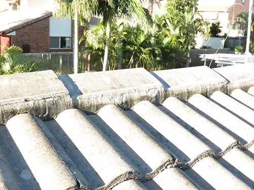 White tile roof