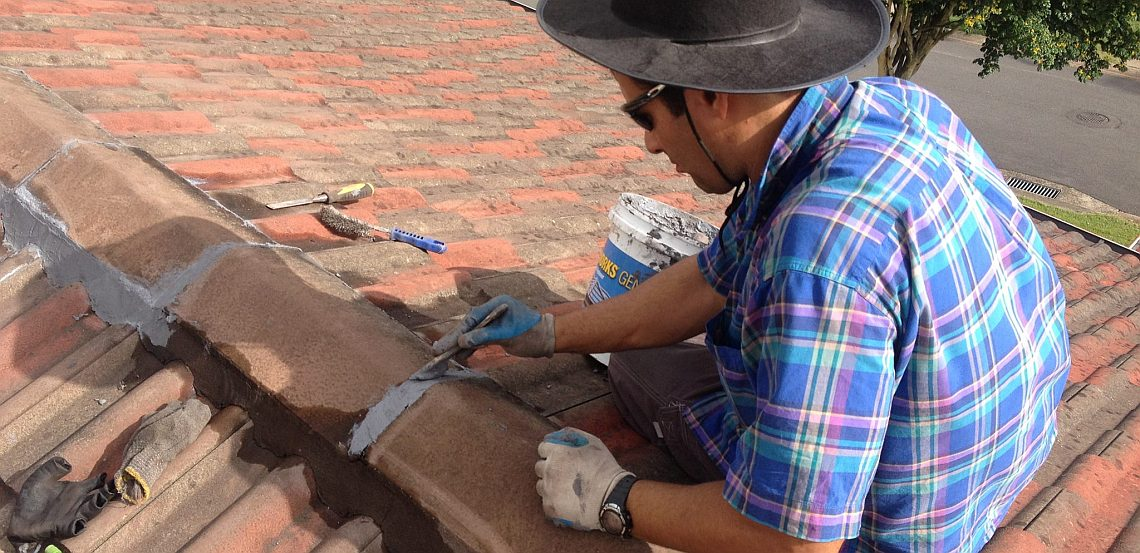 Brisbane roofer performing tile roof repairs