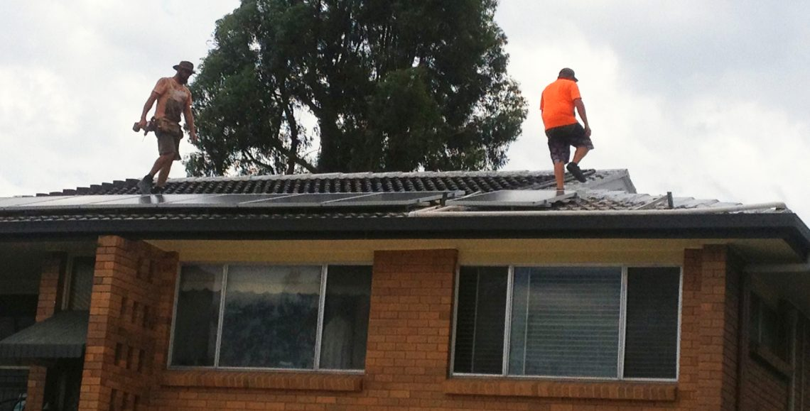 Solar panel readiness followed by installation on a roof